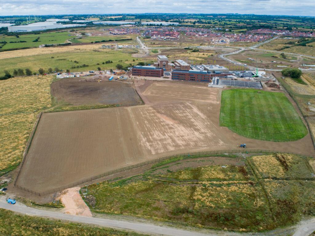 Aerial view of Houlton School