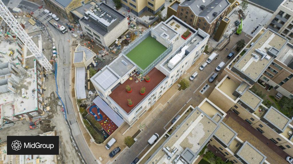 Aerial view of school 360